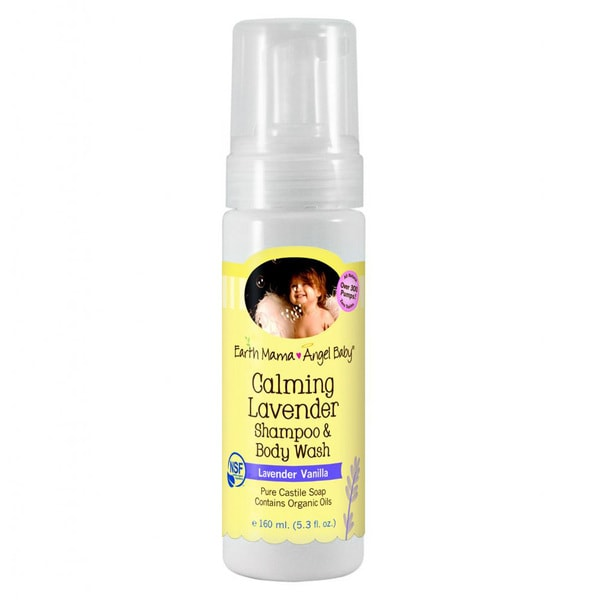 Earth Mama Angel Baby 5.3-ounce Calming Lavender Shampoo and Body Wash
