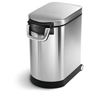 simplehuman Brushed Stainless Steel 25-liter/6.5-gallon Pet Food Storage Can