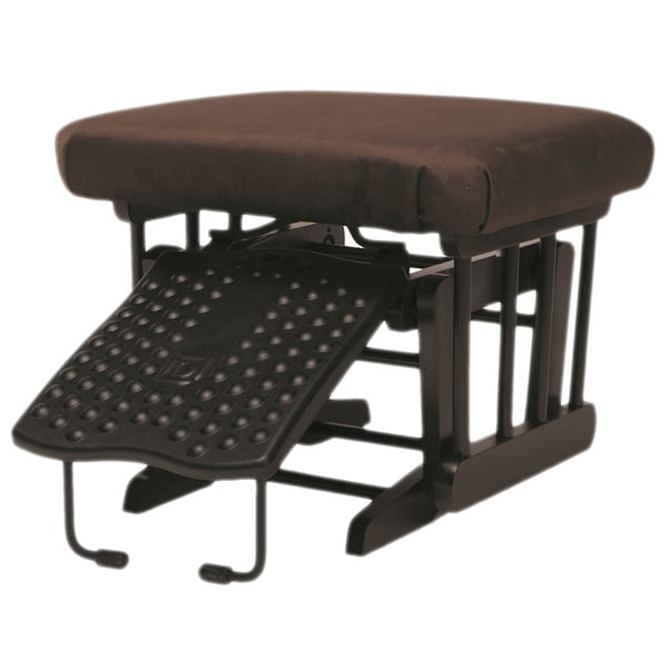 Dutailier Ultramotion Nursing Ottoman for Sleigh and 2-post Gliders in Coffee Finish Chocolate Fabric