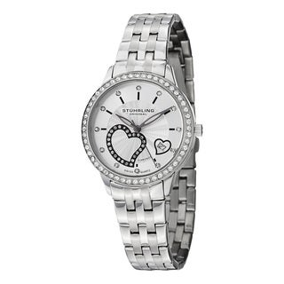 Stuhrling Original Women's Aphrodite Elite Swiss Quartz Stainless Steel Bracelet Diamond Watch