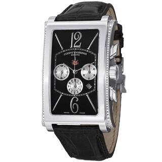 Cuervo Y Sobrinos Men's 1014.1N-G LBK 'Prominente' Black Diamond Dial Chrono Watch