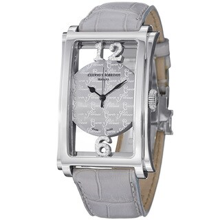 Cuervo Y Sobrinos Men's 1011.1ASAR LBU 'Prominente Convertibile' Diamond Dial Watch