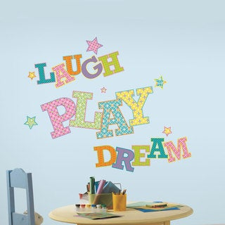 Laugh Play Dream Peel and Stick Giant Wall Decals
