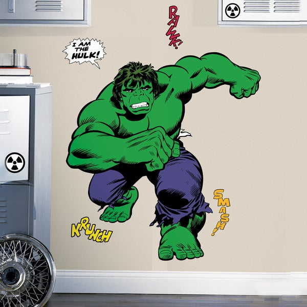 Marvel Classic Hulk Peel and Stick Giant Wall Decals 11336355