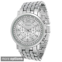 Geneva Platinum Women's Crystal-accented Watch