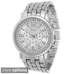 Geneva Platinum Women's Crystal-accented Watch
