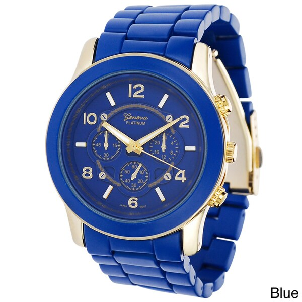 Geneva Platinum Women's Link Chrono-style Watch