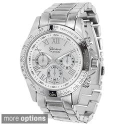 Geneva Platinum Women's Silver Link Watch
