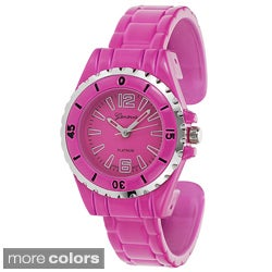 Geneva Platinum Women's Color Pop Cuff Watch
