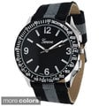 Geneva Platinum Men's Canvas Strap Watch