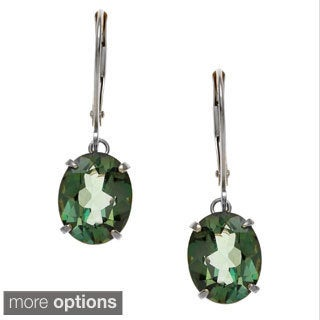 Kabella 14k Gold Green Topaz 'Emerald Envy' Leverback Earrings