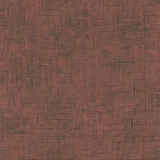 Burgundy Faux Wooden Panel Wallpaper