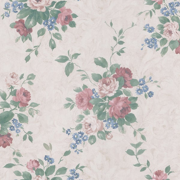 Off-white Botanical Wallpaper