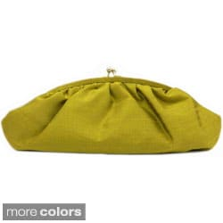 Handwoven Silk Everyday Color Pop Clutch Purse (India)