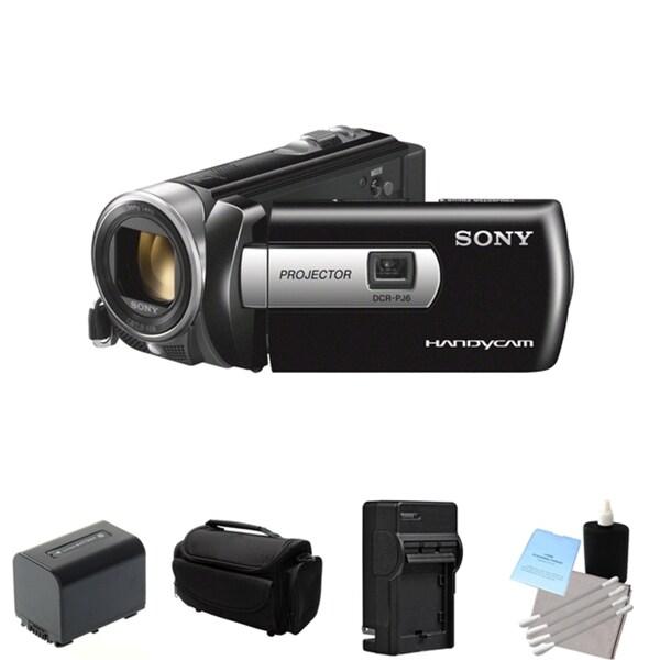 Sony DCR-PJ6 SD HandyCam Camcorder Flash Memory Stick Projector Bundle
