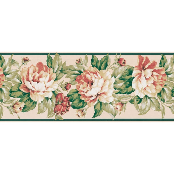 Cream Botanical Wallpaper Border