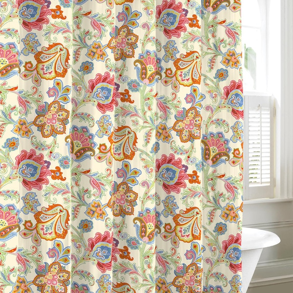 Tommy Hilfiger Lacroix Floral Cotton Shower Curtain