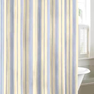 Tommy Hilfiger Lacroix Stripe Cotton Shower Curtain