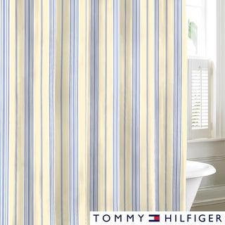 Tommy Hilfiger Lacroix Stripe Cotton Shower Curtain