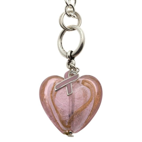 Charming Life Silvertone 'Always Pink' Breast Cancer Awareness Necklace