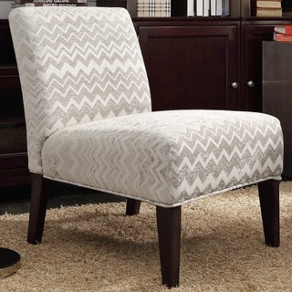 Kayla Hip Chevron Fabric Armless Lounge Chair