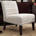 Inspire Q Kayla Hip Chevron Fabric Armless Lounge Chair