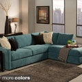Faith Deluxe Contemporary Microfiber Fabric Upholstered 2-piece Sectional