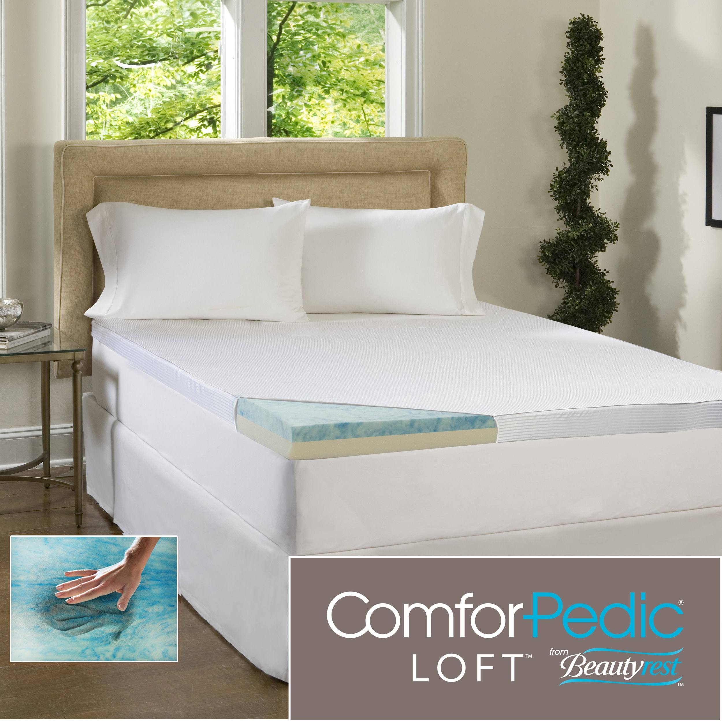 Beautyrest 2-inch Flat Select Gel Memory Foam Mattress Topper with Cover at Sears.com