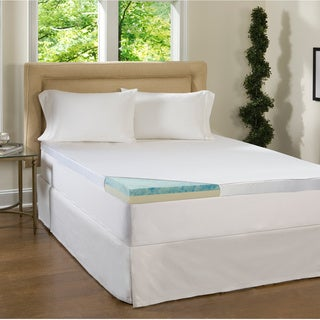 Beautyrest 2 Piece 2-inch Flat Select Gel Memory Foam Mattress Topper with Cover