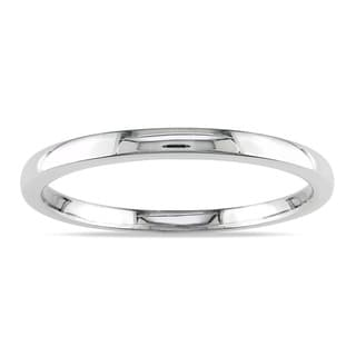 Miadora 10K Highly Polished White Gold Wedding Band