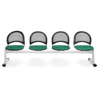 OFM Moon Series Green 4-seat Chair