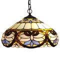 Amora Lighting Tiffany Style Baroque Pendant Lamp
