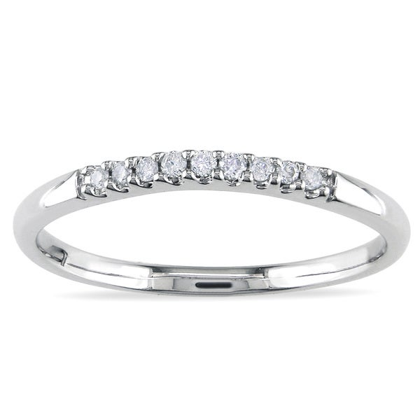 montebello 14k white gold 1 6ct tdw white diamond curved wedding band
