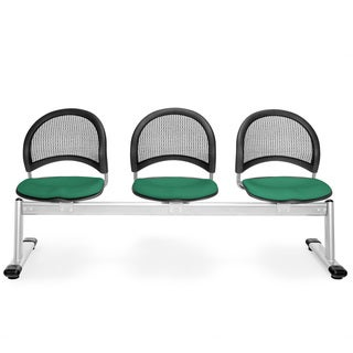 OFM Moon Series Green 3-seat Chair