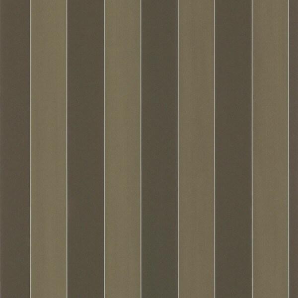 Brewster Dark Brown Stripe Wallpaper