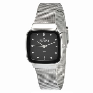 Skagen Women's Crystal-accented Black Dial Watch