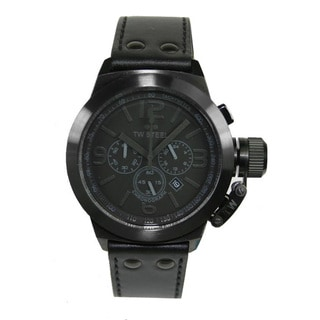 TW Steel Men's 'Canteen' Black Chronograph Watch