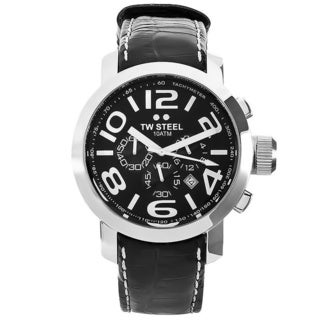TW Steel Men's 'Grandeur' Black Chronograph Dial Watch
