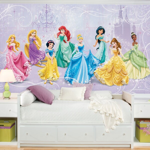 Disney princess royal debut prepasted ultra strippable for Disney princess mini mural