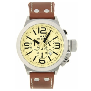 TW Steel Men's Brown Leather Strap Chronograph Watch