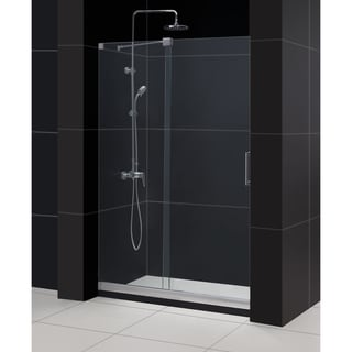 DreamLine Mirage Frameless Sliding Shower Door and 36x48-inch Shower Base