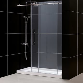 DreamLine Enigma-X Frameless Sliding Shower Door and 32x60-inch Shower Base