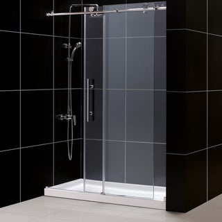 DreamLine Enigma-X Frameless Sliding Shower Door and 36x60-inch Shower Base