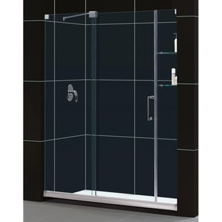 DreamLine Mirage Frameless Sliding Clear Shower Door and 36x60-inch Shower Base