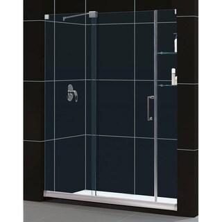 DreamLine Mirage Frameless Sliding Shower Door and SlimLine 36 x 60-inch Single Threshold Shower Base