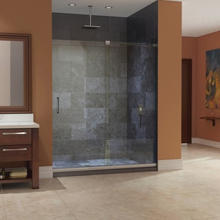 DreamLine Mirage Frameless Sliding Clear Shower Door and 34x60-inch Shower Base