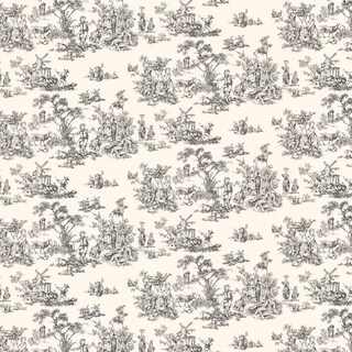 Brewster Charcoal Toile Wallpaper