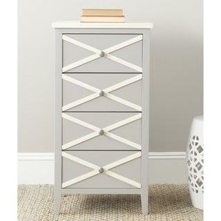 Safavieh Sherrilyn Grey/ White 4-drawer Accent Table