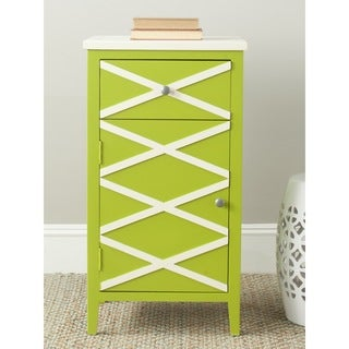 Safavieh Brandy Lime Green/ White Storage Small Cabinet