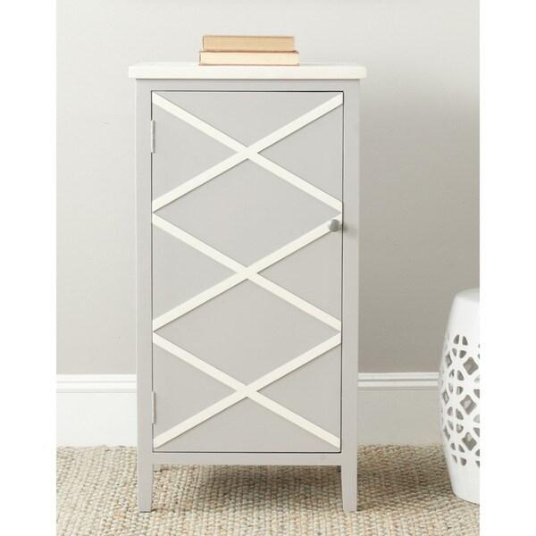 Safavieh Cary Grey/ White Small Storage Cabinet